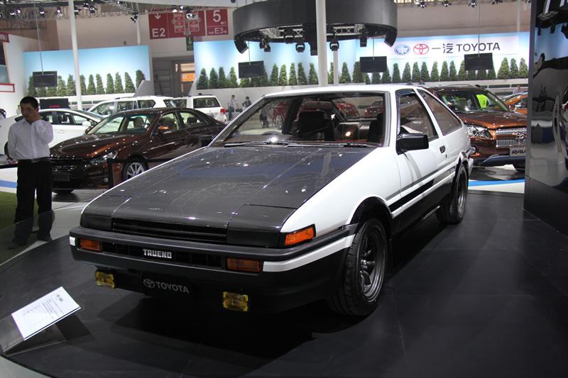 经典丰田ae86现身北京车展