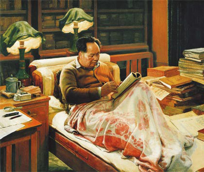 毛泽东/在天安门广场西侧的人民大会堂里,毛泽东的遗体还静静地躺在...
