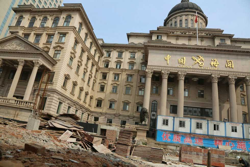 湖南长沙海关办公楼酷似白宫 耗资6000万元(图)