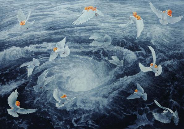 有关海洋动物的太空泥作品图片