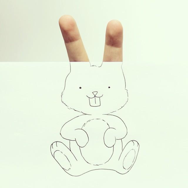 """创意摄影:惟妙惟肖的""""手指动物"""""""