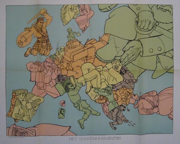 揭秘宣传画里的第一次世界大战地图(组图)