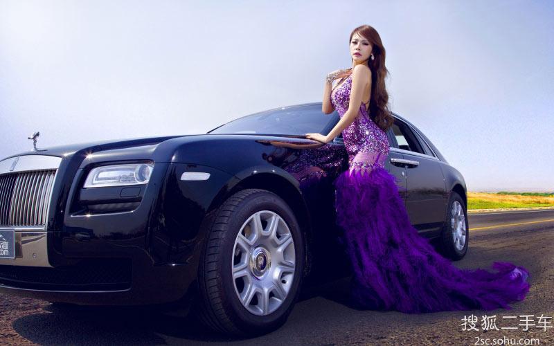 劳斯莱斯紫衣美女性感女神 汽车频道